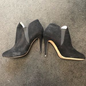 Zara Black Heeled Booties